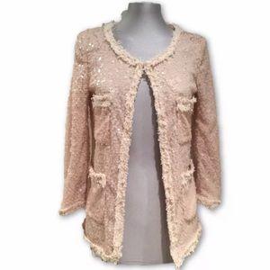 Zara sequin boucle jacket
